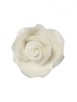 Medium Soft Sugar Roses - Lustre White 38mm - Box of 20